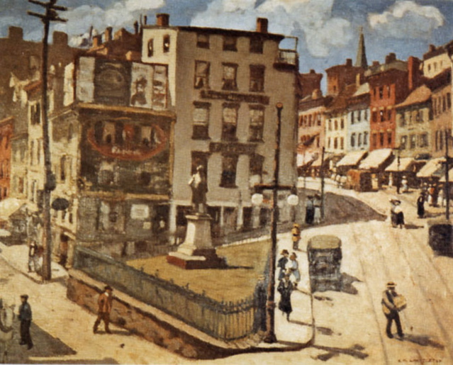 Chatterton Painting of Clinton Square, Newburgh, NY